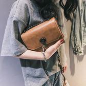 夏天迷你2018新款小包包少女潮超火鏈條復古港風chic斜挎小方包