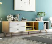 電視櫃 北歐電視柜茶幾組合家具客廳套裝現代簡約小戶型臥室電視機柜地柜igo       琉璃美衣
