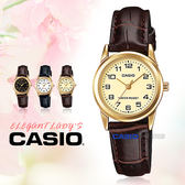 CASIO 卡西歐 手錶專賣店 LTP-V001GL-9B 女錶 石英錶 皮革錶帶