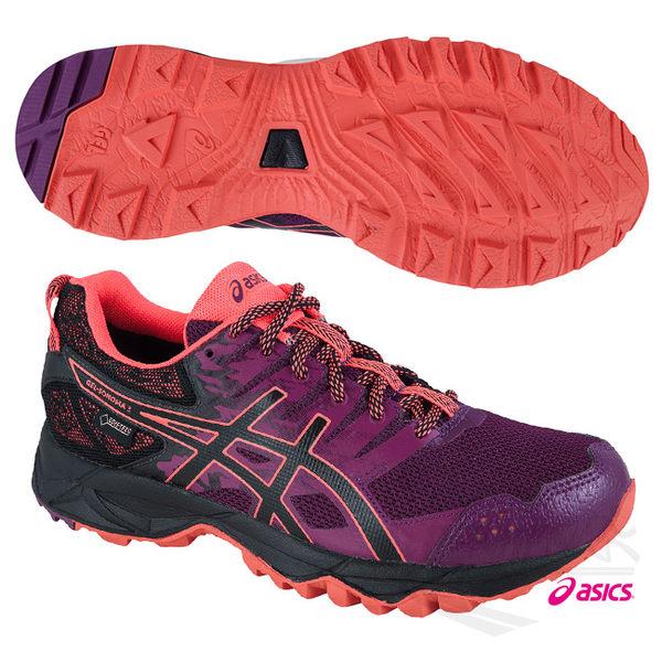 ASICS亞瑟士 女慢跑鞋 SONOMA3 G-TX (桃紅亮橘) 快速排汗與防水功能款 T777N-3290【 胖媛的店 】