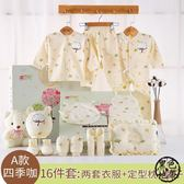 彌月禮盒組 棉質嬰兒衣服夏季新生兒禮盒套裝秋冬季初生剛出生滿月寶寶用品 ~黑色地帶zone