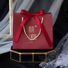 喜糖袋 新款結婚喜糖盒子手提袋手拎袋回禮袋中國風婚禮伴手禮袋子
