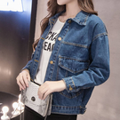 牛仔外套 牛仔外套女春季新款潮韓版學生寬鬆bf薄款夾克衫秋裝短款上衣   夏季狂歡