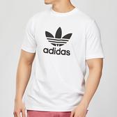 Adidas Originals 男款 白色 三葉草 LOGO 短袖 CW0710