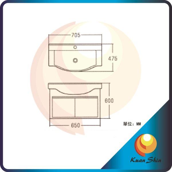 KARNS卡尼斯 浴室櫃 AR-6012(不含龍頭) -限台中地區