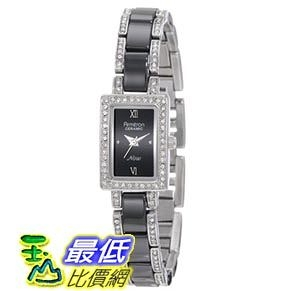 [103美國直購] Armitron Women s 75/3955BKSV Black Ceramic Silver-Tone Swarovski 女士手錶 $2525