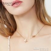當當衣閣-日韓簡約蝴蝶項鏈女個性時尚森系鎖骨鏈玫瑰金網紅潮人頸鏈配飾品
