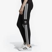 L-adidas ORIGINALS TREFOIL TIGHTS 黑 運動 緊身褲 內搭褲 女款 DV2636