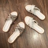 拖鞋 拖鞋女夏外穿2020新款百搭網紅女士ins潮平底鞋子時尚沙灘涼拖鞋