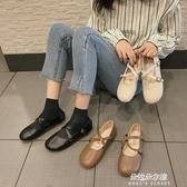 娃娃鞋 日系軟妹淺口單鞋女2020春季新款百搭娃娃鞋森系復古平底瑪麗珍鞋 朵拉朵YC
