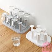 塑料茶杯收納架杯架家用玻璃杯置物架水杯掛架瀝水架【匯美優品】