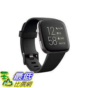 [8美國直購] 智能手錶 Fitbit Versa 2 Health & Fitness Smartwatch with Heart Rate, Music, Alexa Built-in