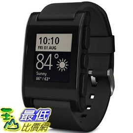 [104美國直購] 手錶 三色可選 301BL Pebble Smartwatch for iPhone and Android