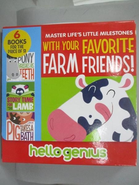 【書寶二手書T2/少年童書_JAB】Hello Genius Favorite Farm Friends!_Dahl,