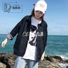 外套牛仔女秋季新款潮韓版學生寬鬆秋裝薄款上衣黑色工裝夾克