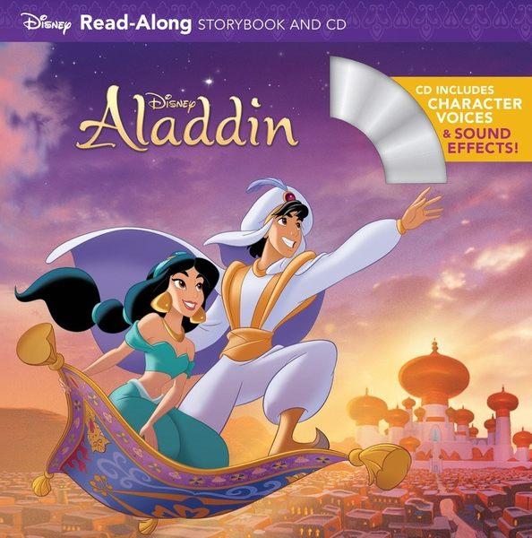 【麥克書店】ALADDIN (阿拉丁)  /英文繪本附CD ‧聽迪士尼說故事