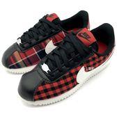 《7+1童鞋》NIKE CORTEZ BASIC TXT SE (GS) 經典格紋 限定款 阿甘鞋 聖誕節 輕量 休閒運動鞋 F850 紅色