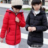 新款冬裝女童棉衣外套兒童羽絨棉服中長款帶帽加厚中大童休閒棉襖 免運