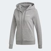 【陸壹捌折後$1980】Adidas Essentials SOLID HOODIE 女款 灰色 舒適 透氣 連帽 長袖 外套 DU0664