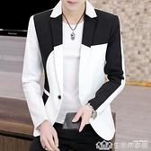 男士西裝2021新款修身套裝ins小西服上衣薄款痞帥高級感炸街外套 樂事館品