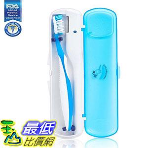 [107美國直購] Oral Stericlean Portable UV Toothbrush Sanitizer, UV Light Sterilizer Cleaner Organizer