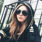 ✨現貨💯-新款🇰🇷韓版墨鏡🕶️韓國太陽眼鏡金屬鏡框圓臉櫻花粉超黑墨鏡 11