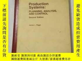二手書博民逛書店Production罕見systems:PLANNING,ANA