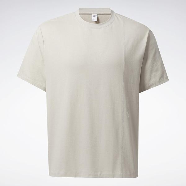 Reebok LIFUL MINIMAL GARMENTS 男裝 短袖 T恤 落肩 聯名 純棉 米【運動世界】GU3734