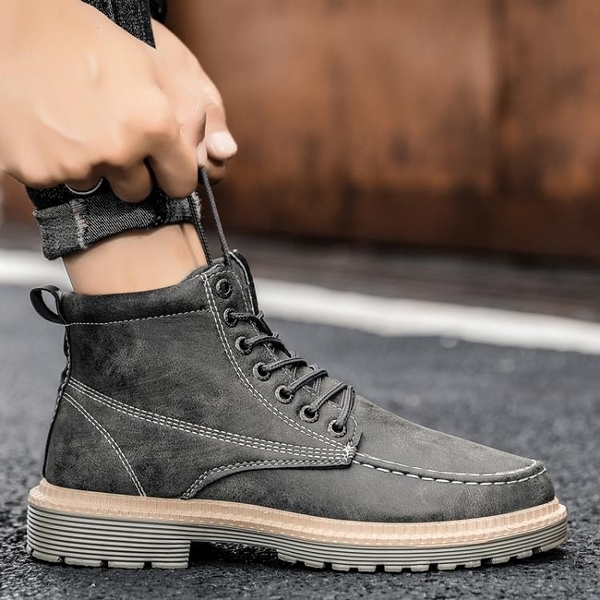 男靴 秋季男士馬丁靴短靴工裝靴韓版潮流夏季男鞋英倫風潮靴高幫男靴子