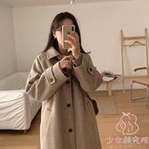 大衣女中長款秋冬款韓版寬鬆小個子毛呢外套【少女顏究院】