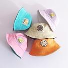 笑臉刺繡雙面雙色漁夫帽 童帽 漁夫帽 帽子