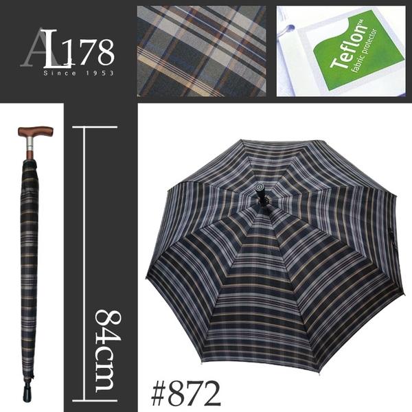 雨傘 萊登傘 兩用型 健行傘 輔助 長輩禮物 超撥水 止滑 耐用 Leotern 黑灰褐格