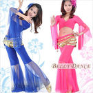 水晶棉薄紗兩件式肚皮舞套裝.肚皮舞蹈服飾...