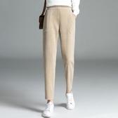 大碼女裝 鬆緊腰長褲~重磅雪尼爾面料Q彈軟糯舒適親膚大碼高腰彈力蘿卜褲T442A莎菲娜