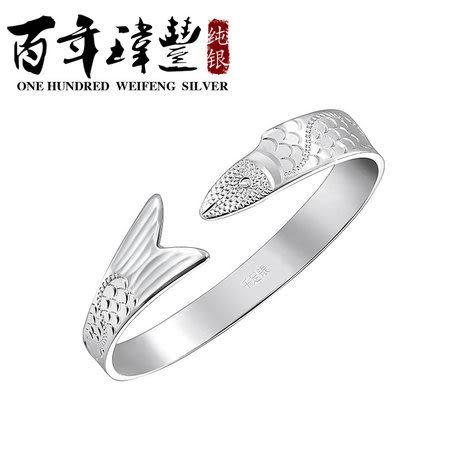 銀手鐲銀女 銀手鐲 時尚飾品開口手環 沉魚落雁