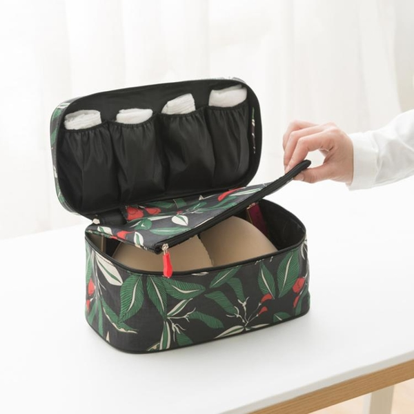 內衣收納袋便攜防水旅行寢室學生雙層胸罩文胸襪子分