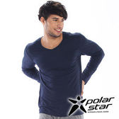 PolarStar 男 V領吸濕發熱保暖衣 『深藍』 P15249