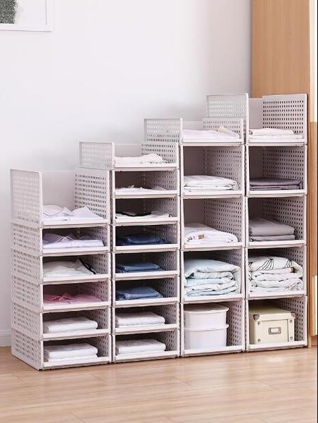 衣櫥收納神器衣櫃收納分層隔板抽屜式收納架家用整理架臥室置物架