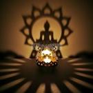 蠟燭自備 燭台佛盞酥油燈彌勒佛坐佛蓮花印度特色金屬鏤空雕花光影藝術燭台 小明同學