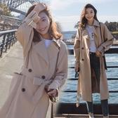 風衣 2020新款卡其色百搭外套女中長款過膝韓版英倫風寬鬆