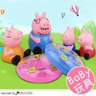 粉豬家族造型玩具寶寶洗澡玩具 6件/組