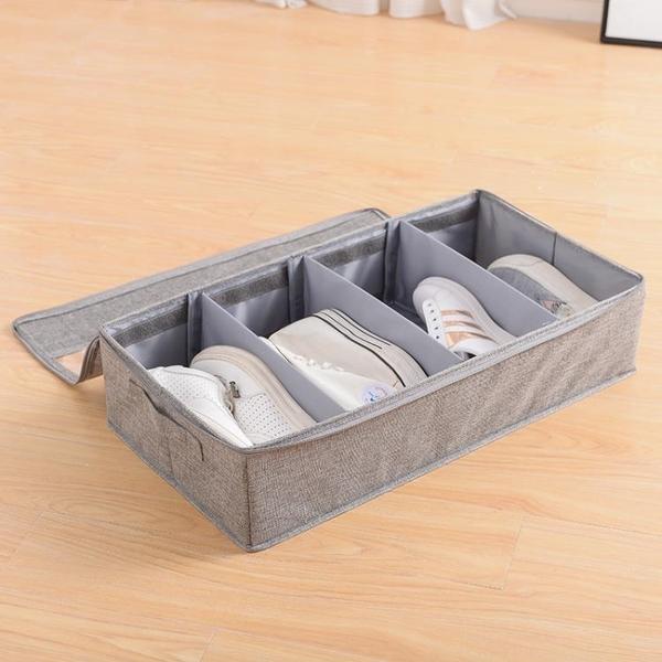 折疊式布藝鞋櫃鞋盒鞋子收納整理箱盒【步行者戶外生活館】