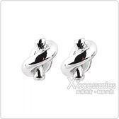 kate spade經典簡約水手結設計穿式耳環(銀)