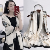 絲綢輕薄絲巾女百搭圍巾長款披肩外搭春秋款洋氣時尚冬季紗巾 限時熱賣