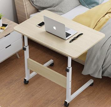 電腦桌 電腦桌可移動升降床上書桌簡約家用懶人桌臥室學生簡易床邊小桌子 WJ【米家】