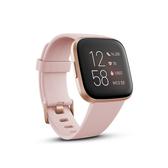 Fitbit Versa 2 一卡通智慧運動手錶 金框花瓣粉錶帶