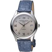 康斯登CONSTANT經典時尚機械女腕錶  FC-303LGD3B6 藍皮