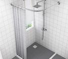 浴簾 磁性浴簾套裝免打孔浴室弧形桿衛生間...