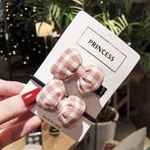 髮夾+髮束-韓國新款布藝蝴蝶結髮夾+髮圈 兩入組 髮束 髮帶 髮飾【AN SHOP】