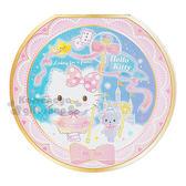 〔小禮堂〕Hello Kitty 日製圓形便條紙《粉.城堡.燙金》2款圖案各30張 4901610-42966